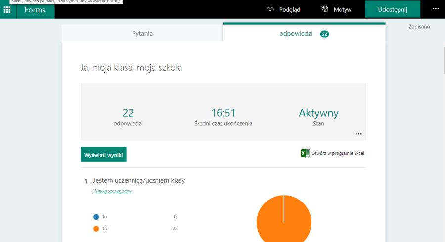Microsoft przykładowa ankieta wyniki